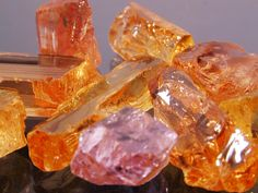 Imperial Topaz from Brazil and Pakistan
