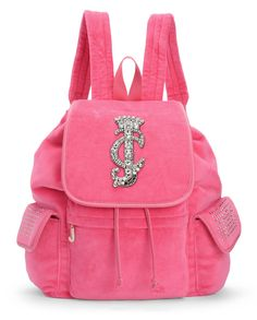 LA GLAMOUR VELOUR BACKPACK - Juicy Couture