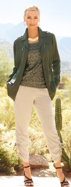 Style Secret: Be sure to have a lightweight jacket on hand for sudden temperature drops in the evenings. #DestinationFabulous #travel #spring #chicos