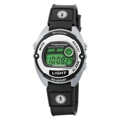 Armitron Women's 456853SIL All-Sport Chronograph Black Strap Digital Sport Watch Armitron. $18.74. Water-resistant to 165 feet (50 M). Alarm and chronograph. Silver-tone resin case with a silver-tone top ring. Black resin strap with printed graphics. Digital display with front button activation and delay feature. Save 25%!