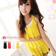 Buy 'Maymaylu Dreams – Ruffled Tank Top' at YesStyle.com plus more Taiwan items and get Free International Shipping on qualifying orders.