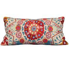 suzani pillow from susan wheeler home via 1st dibs