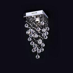 Max 50W Montagem do Fluxo , Contemprâneo Galvanizar Característica for Cristal Metal Quarto / Sala de Jantar / Cozinha de 803839 2016 por R$346,67