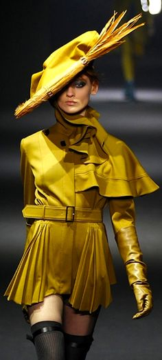 John Galliano This is a modern version of a women's riding habit.