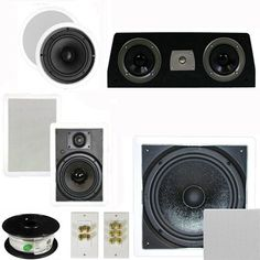 "5.1 Home Theater 6.5"" Speaker Set with Center, 10"" Passive Sub More TS65CWC51SET10 by Theater Solutions. $290.99. Specifications2 TS65C In Ceiling/Wall Speakers6.5"" Woven Kevlar Driver with 32-20,000 Hz Range200 Watts RMS and 400 Watts Max per pair92dB SensitivityCeiling Cut Out Size is 7.875""Overall Measurement is 9.5""Mounting Depth is 2.875""2 TS65W In Ceiling/Wall Speakers6.5"" Woven Kevlar Driver with 32-20,000 Hz Range200 Watts RMS and 400 Watts Max per pair93dB..."