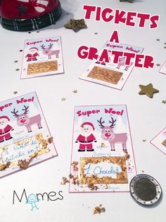 DIY: Scratchcards for Christmas - Christmas - noel Christmas Time, Christmas Gifts, Xmas, Holiday, Diy Cadeau Noel, Surprises For Her, Handmade Christmas Decorations, New Years Eve Party, Christmas Inspiration