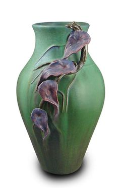"""Trailing Orchid"" in Dark Forrest @ Ephraim Faience Pottery"
