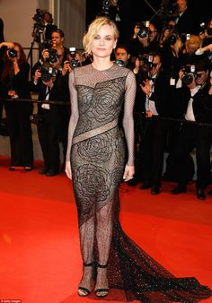 Be a sheer delight in Diane's Jason Wu gown #DailyMail  Click 'Visit' to buy now