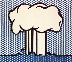 """""""Atomic Landscape"""", 1966  By: ROY LICHTENSTEIN"""
