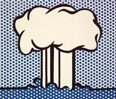 """Atomic Landscape"", 1966   By: ROY LICHTENSTEIN"