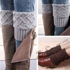 Gaiters Crochet Knit Boot Cuffs Boot Socks Crochet Free Patterns Thermal Boot Covers Short Leg Warmers-in Leg Warmers from Women's Clothing & Accessories on Aliexpress.com | Alibaba Group