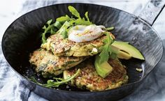 Zucchini and Avocado Fritters