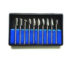 10pcs 1/8inch 3mm Shank Tungsten Carbide Burr Rotary Cutter files Set