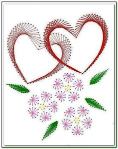 The Latest Trend in Embroidery - Embroidery on Paper - Embroidery Patterns Embroidery Cards, Embroidery Stitches, Embroidery Patterns, String Art Templates, String Art Patterns, Card Patterns, Stitch Patterns, Paper Patterns, Doily Patterns