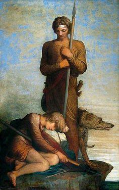 George Frederick Watts The Saxon Sentinels 1843-1853