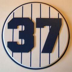Retired Number 37 Plaque Yankees Casey Stengel - large