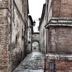 The streets are quiet this morning in Sant Angelo after the first rain in almost 3 months!! #LeMarche #Italy