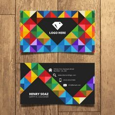 Triángulos coloridos tarjeta de diseño