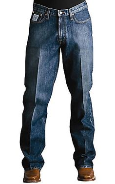 Cinch® White Label Dark Stonewash Relaxed Fit Jeans - MB92834013 | Cavenders Boot City yes I need my man in Cinch