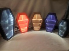 Unique Lighted Display Coffin Shaped Curio by GypsyCraftTrunk