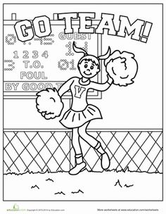 Free Coloring Pages: Cheerleading Coloring pages this would be fun ...