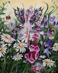 Gabriella Szabo Fairy Art - The Fairy Gathering Fairy Tail Love, Fairy Dust, Fairy Land, Fairy Tales, Unicorn And Fairies, Flower Fairies, Fantasy World, Fantasy Art, Fantasy Fairies