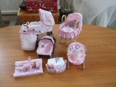 ooak baby girl with jemima puddle duck nursery set Barbie Bebe, Barbie Doll Set, Baby Barbie, Barbie Doll House, Barbie Toys, Barbie Dream House, Miniature Crafts, Miniature Dolls, Baby Doll Nursery