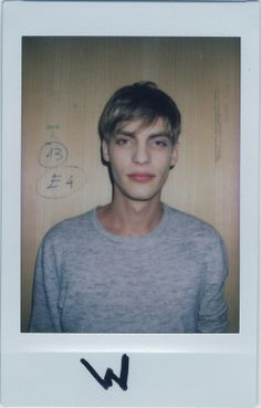 What do Milan's AW14 men get off on? Baptiste Radufe (Elite). Male model fashion week polaroids. http://www.dazeddigital.com/fashion/article/18665/1/what-do-you-get-off-on