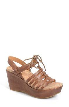 Kork-Ease® 'Adel' Platform Wedge Sandal (Women) available at #Nordstrom