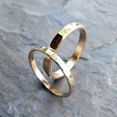 Hammered Gold Wedding Band Set in Solid Yellow or Rose Gold. and Flat Bands, Choose Polished or Matte Finish. Matching Wedding Band Sets, Wedding Matches, Gold Wedding, Wedding Rings, A Perfect Circle, Or Rose, Rose Gold, Gold Flats, Hammered Gold