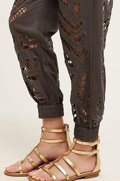 Cutwork Joggers - anthropologie.com