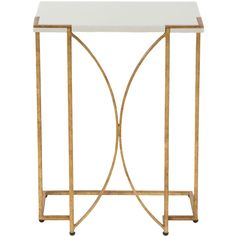 Gabby Furniture Amber Gold Side Table (670 CAD) ❤ liked on Polyvore featuring home, furniture, tables, accent tables, gold table, gabby furniture, gold accent table, gold side table and gold furniture