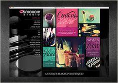 Website design by Think Baseline: Smooch Studio #website #design #webdesign #graphicdesign #interactive #makeup