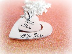 Sister Jewelry Set Big Sis Little Sis by EverythingPrettyShop