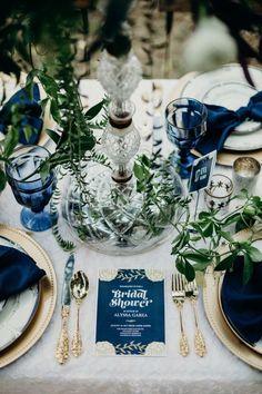 Classic Blue: Weddings with Pantone 2020 Color Blue White Weddings, Wedding Blue, Tiffany Wedding, Lace Wedding, Wedding Table Settings, Place Settings, Something Blue, Wedding Colors, Royal Blue Wedding Decorations