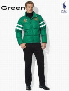 Ralph Lauren Men RL Snow Polo Challenge Cup Jacket USA Green