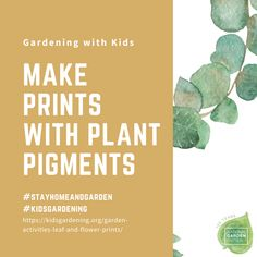 Leaf and Flower Prints: Engage those high energy kids with this fun craft that uses a mallet. - National Garden Bureau Energy Kids, High Energy, Outdoor Classroom, Happy Relationships, Summer Garden, Family Activities, Easy Diy Projects, Flower Prints, Fun Crafts