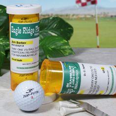 Personalized PARscripton Golf Ball Set | Custom Golf Ball Container