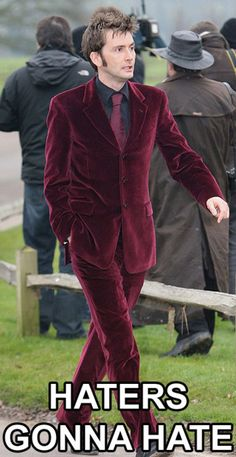 the only man ever to look good in velvet.