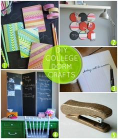 Craft It Up Before School Starts: DIY Ideas for the College Dorm #backtoschool #crafts #dorm #college #decorating