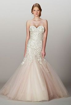 Liancarlo blush wedding dress. I like the bottom, but want it as a whole dress or a different top half.