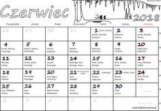 Kalendarz z imieninami na czerwiec 2018