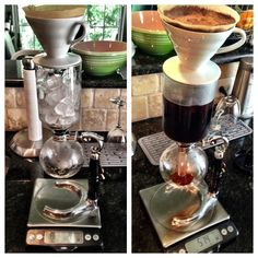 iced coffee with a siphon brewer
