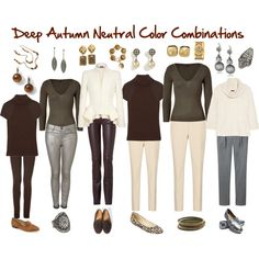 Deep Autumn Neutral Color Combinations - - A fashion look from February 2012 featuring white sweater, brown sweater and pullover sweater. Browse and shop related looks. Dark Autumn, Soft Autumn Deep, Deep Winter, Autumn Fall, Deep Autumn Color Palette, Look Fashion, Autumn Fashion, Pullover Shirt, Seasonal Color Analysis