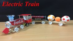 How to make an Electric Train From Coca Cola Can   The q tube ✔ #howtomake #howto #diy #train