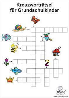 Kinderkreuzworträtsel für die Grundschule