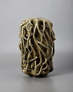 Axel Salto (Danish, 1889-1961), Royal Copenhagen , Glaze Decorated Stoneware Vase.