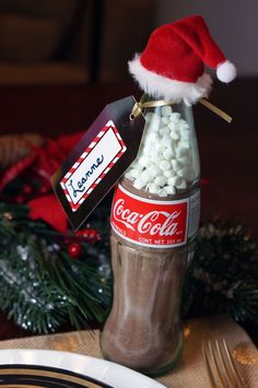 repurpose glass Coca-Cola bottles to make the perfect DIY Coca-Cola gift                                                                                                                                                                                 Plus