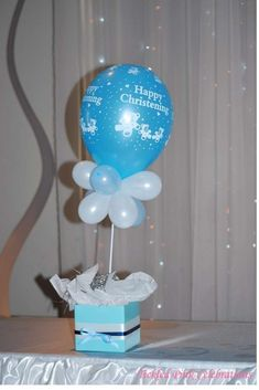 Blue & White Christening Baptism Party Ideas | Photo 5 of 17 | Catch My Party