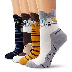 Women Students Funny 4PCS Socks Cute Cartoon Fun Funky Cat Warm Ladies Sock Mulheres Estudantes Meias Engraadas Y5 Price: 9.95 & FREE Shipping #fashion|#health|#beauty|#fitness Winter Socks, Warm Socks, Converse All Star, Outfits Mujer, Funny Socks, Novelty Socks, Sport Socks, Nike Socks, Thing 1